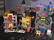Imaginext Lot Batman Batcave Gotham City Center W/ New Figures And Vehicles