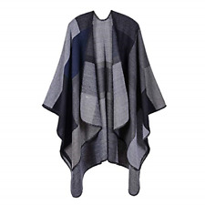 New listing Lifetooler Women Poncho Cape Open Front Spring Cardigan Lady Reversible Free