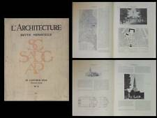 L'ARCHITECTURE 1934 MARSEILLE GREBER, 13 RUE RAYNOUARD PARIS, EGLISE SAINT LEON