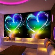 Wallpaper Embossed Heart Mural 3D Love Dreamland Design Home Commerce Wall Cover