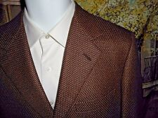USA 48R Brioni Nomentano Blazer Coat Silk Wool Bronze Black 3 Button