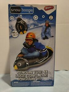 Wham-O 44 Inch Air Tube, Penguin, Inflatable Sled Winter Sports New, Snow Boogie