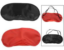 Travel Eye Mask Shade Cover Blindfold Night Sleeping Blackout Red or Black