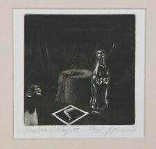 """Arabian Nights"" by Robert Ecker Signed Mezzotint Limited Edition 4 1/2""x4 1/2"""