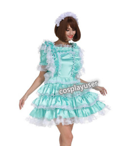 Satin sissy maid outfit Cosplay dressing table tailored
