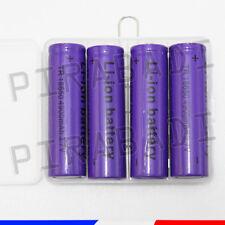 4 PILES ACCUS RECHARGEABLE 18650 3.7V 4900mAh Li-ion + BOITE DE RANGEMENT OFFERT
