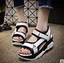 Womens Korean Summer Sports Sandals Wedge Heels Platform Leisure Shoe Stylish