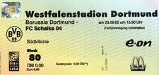 Bundesliga 2000/2001 Sammlerticket Borussia Dortmund-Schalke 04 Derby 0:4 (0:2)