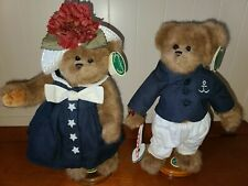 """The Bearington Bears Collection 13"""" Captain & Tenille with Stands"""