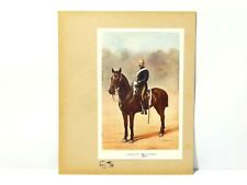 Scrapbook Page Military Art Print 19th Hussars Sergeant Portrait #RG7