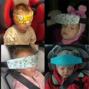 Baby Car Seat Headrest Kids pillow Support Sleeping Travel Pad Strap Belt Child