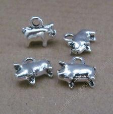15x Tibetan Silver Pig Animal Pendant Charms DIY Jewellery Accessories /643