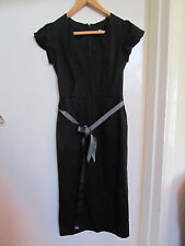 Smart Black V Neck Oasis Wiggle Dress in 4 / 6 - NWT - Small waist
