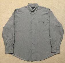 Yves Saint Laurent Mens Grey 100% Cotton Striped Long Sleeve Casual Shirt Size L