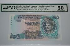 (PL) NEW OFFER: RM 50 WA 0587416 PMG 50 AZIZ TAHA 5TH SERIES REPLACEMENT NOTE