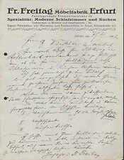 ERFURT, Brief 1922, Möbel-Fabrik Fr. Freitag
