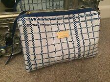 JENNY Packham Lancôme Trucco Da Viaggio Borsa Blu e motivo check bianco