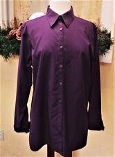 Eddie Bauer XL Button Down Shirt XL Purple Wrinkle Resistant L/S Stretch Casual