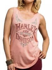 Harley-Davidson Womens Handcrafted Life Curved Hem Sleeveless Tank Top Size XL