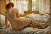 Dream-art huge oil painting nude young woman on the bed hand painted in oil art