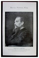 1921 Original Prospectus - RICHARD BURTON MEMORIAL FUND - Portrait Illustration
