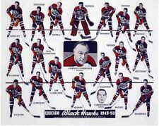 1949-50 CHICAGO BLACKHAWKS NHL HOCKEY TEAM 8X10 PHOTO