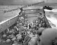 Historical Photograph of the D-Day WWII Omaha Beach Landing June 6 1944 8x10