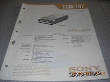 Sony tcm-767 grabadora de cassette Service Manual