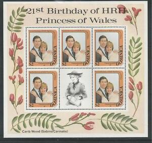 DOMINICA # 774 MNH 21ST BIRTHDAY OF PRINCESS DIANA. Miniature Sheet