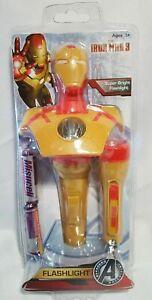NEW Iron Man 3 Flashlight & Mini Keychain Flashlight with AA Batteries by Sakar