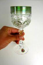 altes Hofbauer Römerglas Glas Überfang grün Römer Glas Bleikristall Pokal