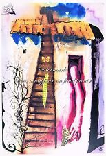 """SALVADOR DALI Alice in Wonderland #5 CANVAS OR PAPER PRINT Sizes A3 to 18x24"""""""