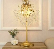 Table Lights LED Gold Elegant Crystal Iron Desk Lamp Home Fashion Luxury Fixture