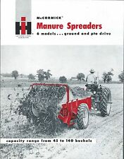 Farm Equipment Brochure - Ih McCormick - 10 40 et al Manure Spreaders (F5297)