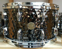 "Gretsch Full Range Series 14x8"" Hammered Steel Snare Drum Rullante Caisse Claire"
