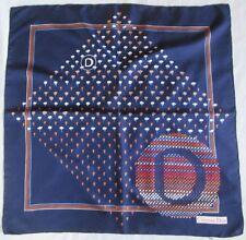 Joli Foulard  CHRISTIAN DIOR 100% soie   TBEG  vintage scarf  80 x 80 cm /