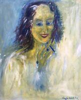 Sonja Köditz Nachlass Moderne Kunst Frau Zigarette Portrait Expressiv 100 x 80