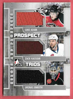 2011-12 Enroth - Kassian - Adam ITG In The Game Heroes & Prospects Jersey /50
