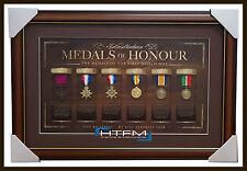Australia Anzac Replica Medals of Honour L/E Print Framed First World War WW1