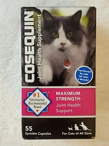 Cosequin For Cats Joint Health Supplement  - 55 sprinkle capsules  Exp 05/2022