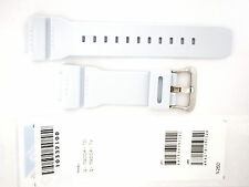 CASIO WATCH BAND:  10332100   BAND FOR G-7900  White RESIN