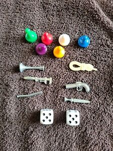 Clue Boardgame Replacement Game Pieces And Dice Lot