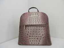 NWT AUTH BRAHMIN FELICITY OMBRE MELBOURNE EMBOSSED LEATHER BACKPACK-$295-PORT