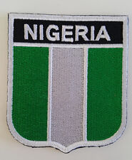 Nigeria Flag Embroidered Sew/Iron On Patch Patches