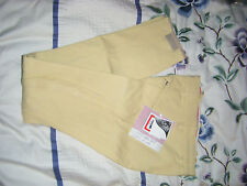 Tattini Italian Lycra Breeches Size 6 Pale Yellow Ideal For Hunting -New
