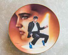 1992 Bradex Elvis Presley Blue Suede Shoes Collectible Plate Delphi Hit Parade