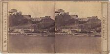 Ehrenbreitstein Allemagne Bord du Rhine Stéréo Vintage Albumine ca 1860