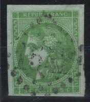 AV142293/ FRANCE – BORDEAUX ISSUE – Y&T # 42B USED – CERTIFICATE – CV 275 $