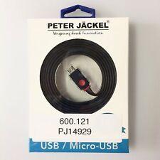 plat USB Câble pour micro USB 1.5 m noir PETER JÄCKEL 14929 #600121