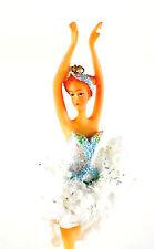 Nutcracker Ballet Ballerina in Blue/White 7 inches Christmas Ornament NEW 2016